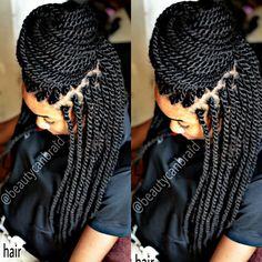 Afro Marley braid 12 packs No cutting Ends were brush Dip in hot water Click here @beautycanbraidprices for more details