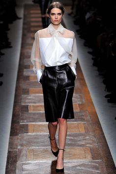 Valentino Fall RTW '12. SUCH a great combo of feminine/ tough but not cliche.