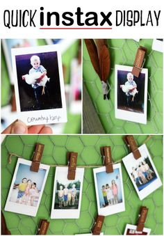 Point, shoot, and Clip up. Simply clip up instax instant photos on a string for…