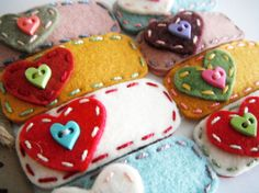 Miki's Heart Felt hair clipvalentine day and any by MikiStitch, $4.50
