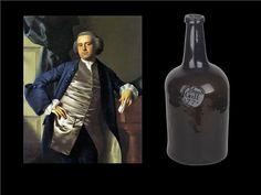 "Mallet Bottle Marked ""Moses Gill 1772"" Portrait of Moses Gill of Massachusetts by John Singleton Copley 1764 (Rhode Island School of Design"