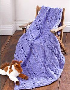 Lacy Violet Baby Blanket