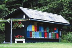 Traditional beehive, Slovenia by Inntravel, via Flickr