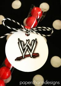 PaperCharm: WWE Birthday Party, Printable Tags & Game