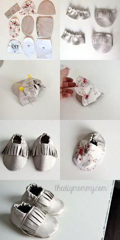 EL JARDIN DE LOS SUEÑOS: DIY mocasines de bebé