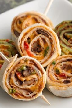 Nacho flavors rolled into soft tortillas and sliced into fun pinwheels for easy apps!