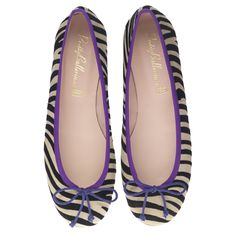 Prettyballerinas Rosario suede purple trim S/S 2012