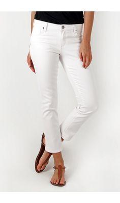Reese Ankle Straight Leg (White)