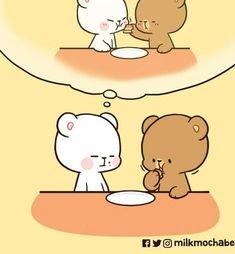 Cute Cartoon Images, Cute Love Cartoons, Cartoon Gifs, Chibi Cat, Cute Anime Chibi, Funny Girlfriend Memes, Teddy Bear Gifts, Teddy Bears, Cute Bear Drawings