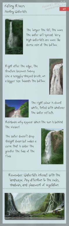 tips for painting waterfalls!