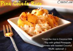 ~Pina Colada Rice!
