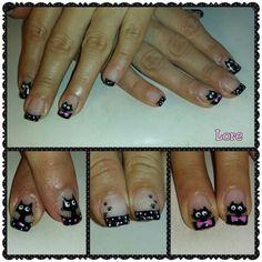 Cats (uñas de gel Romina en facebook)