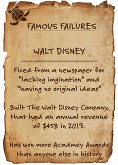 Famous Failures - Motivational Never Give Up - WFPCC Employee Blogs | a Jupiter Real Estate Company | http://wfpcc.com