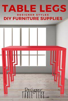 DesignerTableLegs.com Red Art Deco Table Legs Interior Design Furniture DIY  Ikea Hacks