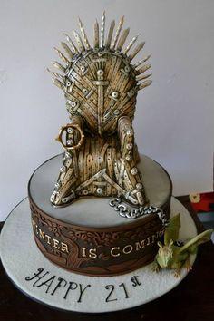 """Les 30 plus beaux gâteaux sur le thème """"Game of thrones/Le trône de fer"""""""