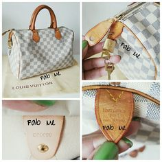 Authentic Louis Vuitton Speedy Azur 30 **NO TRADES** Very good condition. The leather handles & trim even patina. No dark handles!! Piping on all edges intact. Very minimal wear on edges, as you can see in the pics. Canvas has no stains. The interior has water stain & 1 very small make-up stain. There is a very small crack near zipper, can be seen in pic 4. Includes lock, 2 keys & dust cover.  Date Code SP0096 Louis Vuitton Bags Satchels