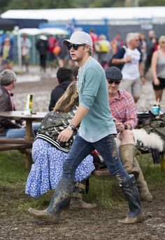Niall at the Glastonbury festival today