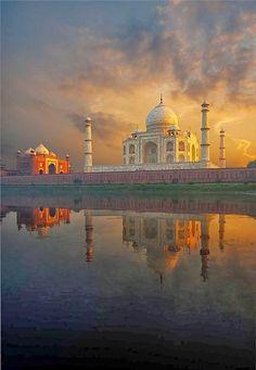 z- by pius99 - Sunset View of Taj Mahal Across River Agra, India