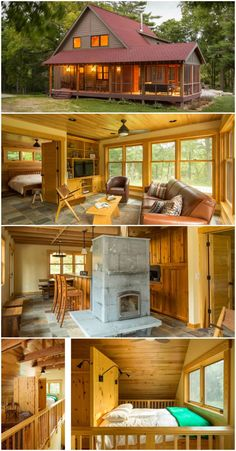 Cosy Wood Cabin at Square Feet - Cosy Wood Cabin at Square Feet Informations About Cosy Wood Cabin at Square Feet Pin You - Cabin House Plans, Tiny House Cabin, Log Cabin Homes, Tiny House Living, Tiny House Design, Small House Plans, Cottage Homes, Diy Cabin, Cabin Kits