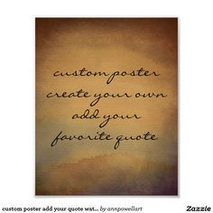 custom poster add your quote watercolor #poster #wallart #decor #quotes