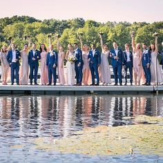 Sending off summer with this crew! Happy Labor Day from the Lake House at 🛶🙌🏻💍 . Kelsie & Nicko, by burnettaboutit unveiledweddingstudio . 📸 🍽 + 💃🏻🕺🏻 👰🏼 from kleinfeld 👗👗👗 🤵🏻 🎩🎩🎩 menguintux 💇🏻♀️+💄 Asian Hair And Makeup, Hair Makeup, Wedding Looks, Bridal Looks, Indian Trail Club, Franklin Lakes, Happy Labor Day, New York Wedding, Photography And Videography