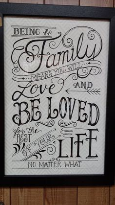 Beyond a family. Hand lettering inspo