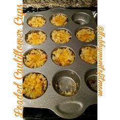 Click through for 21 Day Fix Approved Loaded Cauliflower Cups recipe!