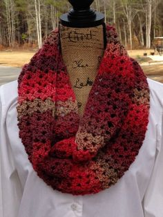 Try your hand at this Gorgeous Sunset Scarf for a truly wonderful crochet scarf pattern. This yarn is absolutely beautiful and will seem like a big splurge all for one crochet scarf!