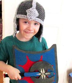 ON SALE bébé chevalier casque, chapeau enfant chevalier, casque au Crochet…