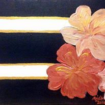 I used metallic paint on this one.  One of my more elegant paintings, I think.
