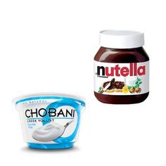 HEALTHY SNACK: NUTELLA AND NONFAT GREEK YOGURT  Greek yogurt can be completely transformed by mixing in one tablespoon of Nutella Hazelnut Spread and instantly goes from a healthy protein packed snack, to a sweet sensational treat.  Calories: 190