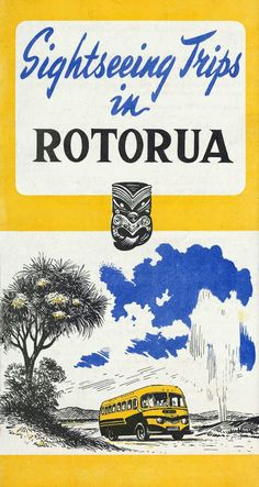 NZR Road Services Rotorua brochure cover, 1950. Image Transpress NZ