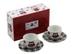 l, sada 4 ks, sova černá Mugs, Tableware, Dinnerware, Tablewares, Mug, Place Settings