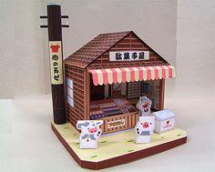 Paperkraft.net - Free Papercraft, Paper Model, & Papertoy: Penny Candy Store Papercraft (Dagashiya)