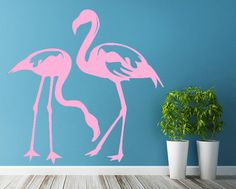 Flamingo Bird Animal Mural Wall Sticker Art Vinyl Decal - How to make vinyl wall decals with silhouette