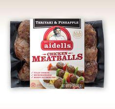 Aidells Teriyaki Pineapple Meatballs