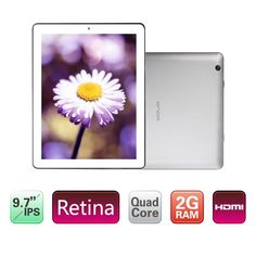 Onda V972 9.7 Inches IPS Capacitive Screen Android 4.1 Quad Core Allwinner A31 1.0GHz Tablet PC with 2GB RAM 16GB Wi-Fi HDMI Dual Camera(White)