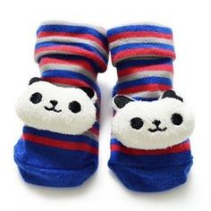 panda baby socks, Made in Taiwan, Lycra, hand sewed! for new born baby~my favorite collection this year! from PEILOU INTERNATIONAL