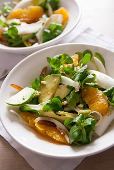 endive mache fenouil orange avocat