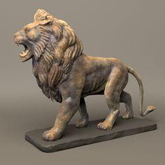 maya stone lion sculpture