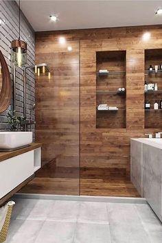 21 Modern And Stylish Bathroom Design Ideas Contemporary Bathroom Designs, Bathroom Design Luxury, Modern Bathroom Design, Home Interior Design, Bedroom Modern, Kitchen Interior, Modern Design, Bad Inspiration, Bathroom Inspiration