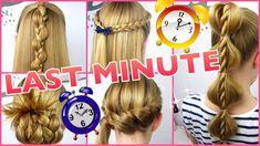 5 x 3 Minuten Frisuren ♥ Last Minute ♥ coole Frisuren auf die Schnelle - YouTube