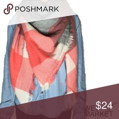 -BACK FOR FALL- 🍂 Plaid Blanket Scarf Plaid blanket scarf with cashmere & acrylic. Exceptionally soft fabric! 55x55 inches. West Market SF Accessories Scarves & Wraps