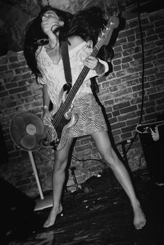 Paz Lenchantin - This girl gets around: The Pixies, A Perfect Circle, Zwan, QOTSA. And she plays barefoot...brave girl.