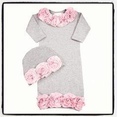 Baby girl's coming home dress. Sooooo precious(: