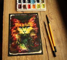 """Schrodinger's Cat""card"