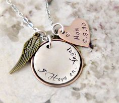 I Have an Angel Remembrance Hand Stamped by lilybrookevintage