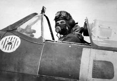 """fcba: """"Polish Lieutenant Jan Daszewski sits in his British Royal Air Force Spitfire of 303 Squadron in In he was shot down over the English Channel, after 3 confirmed, 2 probable, and 1 ground kill. Daszewski was a part of the famed """"Four. Ww2 Aircraft, Military Aircraft, Poland Ww2, Flying Ace, English Channel, Supermarine Spitfire, Battle Of Britain, British Invasion, Fighter Pilot"""