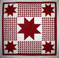 ***Quilt Tops***Quilt Top***Quilt Tops***  Our Newest pattern Traditional, Burgundy and white solids, accent this beautiful quilt top.   Lancaster County Quilt Creations ,  Museum Quality Antique Repr