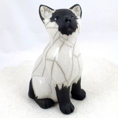 Raku Kitten by Chloe Harford